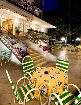 Hotel Parigi: Giardino by night...