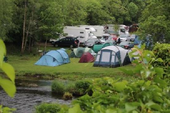 Battlebridge Caravan & Camping Park : View from the bridge