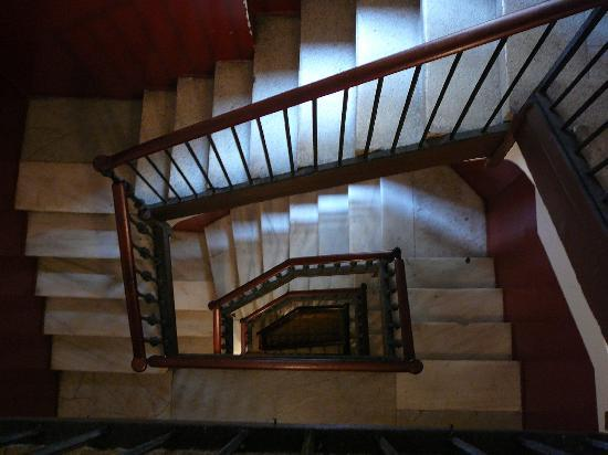 Hostal NITZS BCN: The famed stairs...