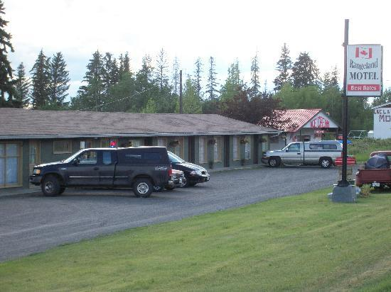 Rangeland Motel : We are a motor motel on Hwy 97 .