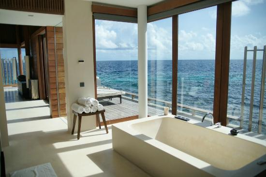 Park Hyatt Maldives Hadahaa: view from water villa