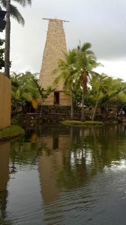 Alii Luau At The Polynesian Cultural Center: Temple grounds