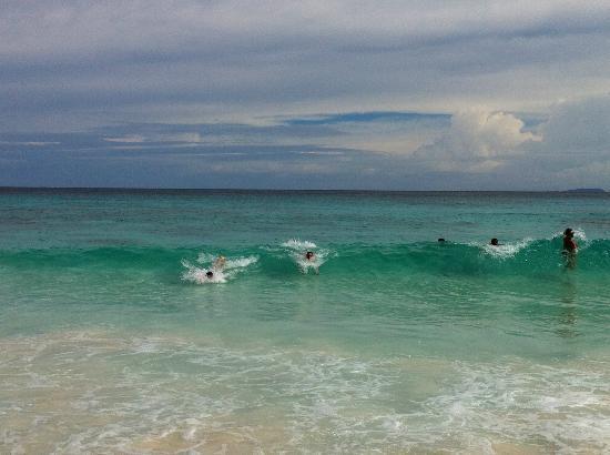 Grand Anse: une eau splendide, des rouleaux pour s'amuser