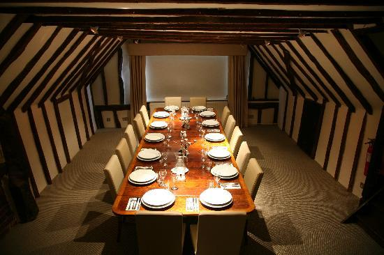 The Peldon Rose : The Oyster Room, private dining for 14 guests