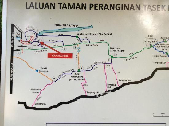 Area map Picture of Tasek Lama Recreational Park Bandar Seri