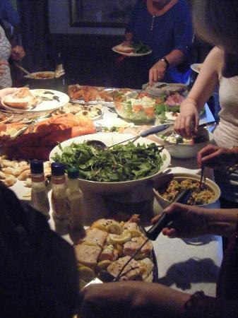 Blacksod Bay: Our birthday food in Teach John Joe, Aughleam
