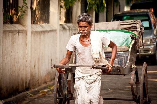Calcutta Photo Tours : The Calcutta Rikshaw-puller