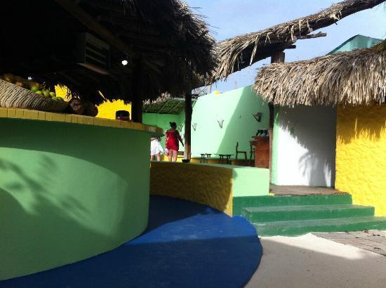 Posada Galapagos: Desde la puerta de la habitación