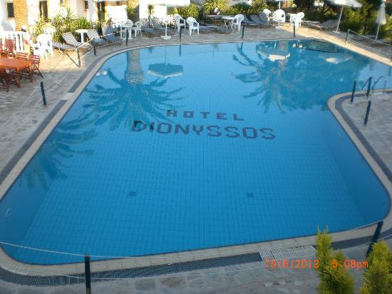 Hotel Dionyssos: Pool from the terrace