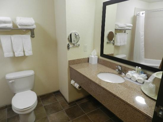 Holiday Inn Express Truth or Consequences: Clean great sized bathroom.
