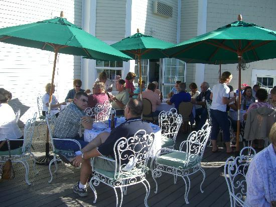 Ashley Inn: I love eating out on the deck overlooking Kerby Gardens.  Every summer Saturday night, Ashley In