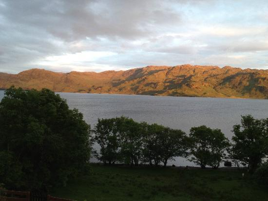Kismul House: Evening view from the bedroom to Loch Morar