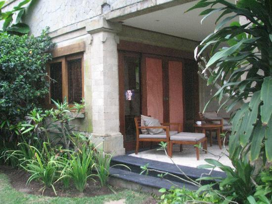 Karma Royal Jimbaran: Front of ground floor room nearest to the pool