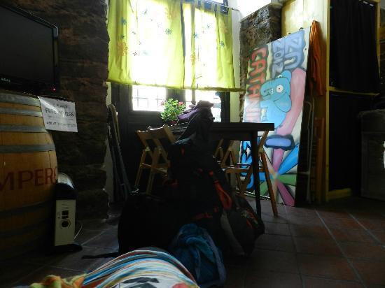 Agora Hostel : En la sala de estar del Hostel, mi último día de mi primer viaje a Catania (volví dos meses desp