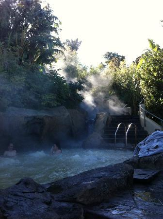 Caledon Hotel, Spa, Casino: Steam rising from hot pool