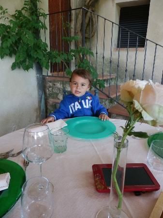 Casolare di Libbiano: A punto de disfrutar de la cena 