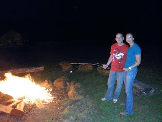 Cornerstone Farm: Roasting marshmallows 