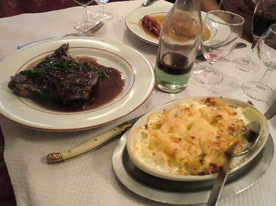 Au Petit Bouchon Chez Georges : Roast Beef with macaroni gratin