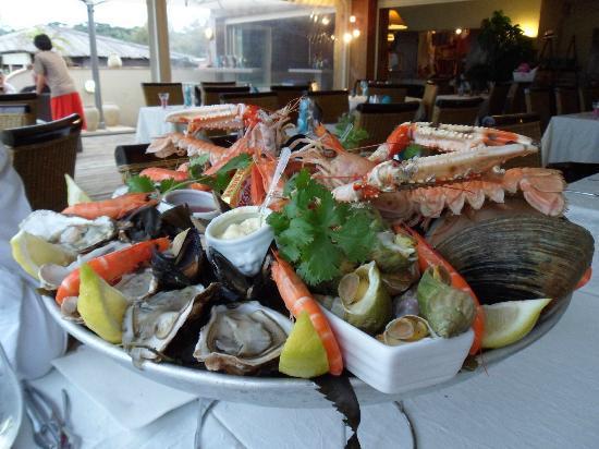 Restaurant Saint Barth: plateau du mer