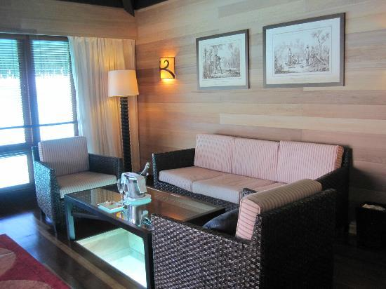 The St. Regis Bora Bora Resort: Rm 218, living room