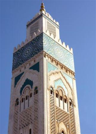 Hassan II Mosque: Hassan II tower detail