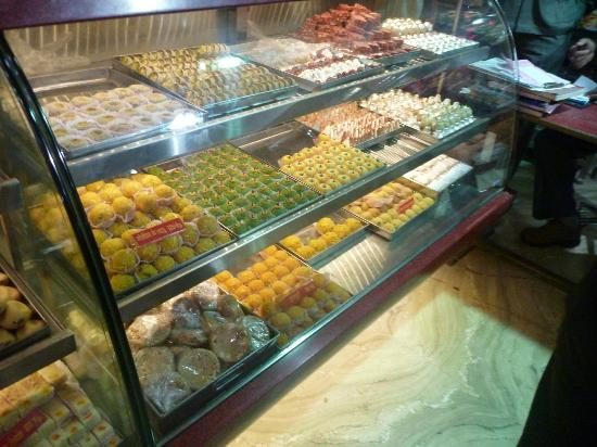 Rawat Mishtan Bhandar: Dessert counter at Rawat Kachori