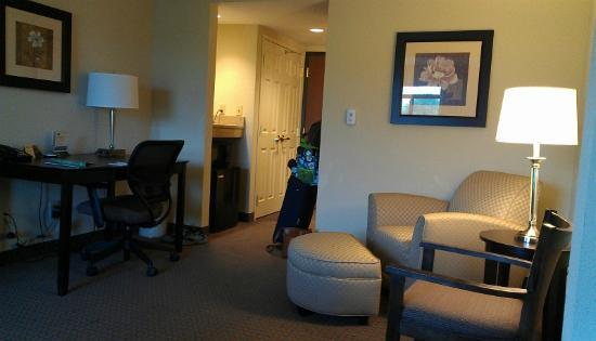 Wingate by Wyndham Cincinnati Airport/Erlanger: Loved that chair and footstool. I used the desk, too, but really liked that chair!