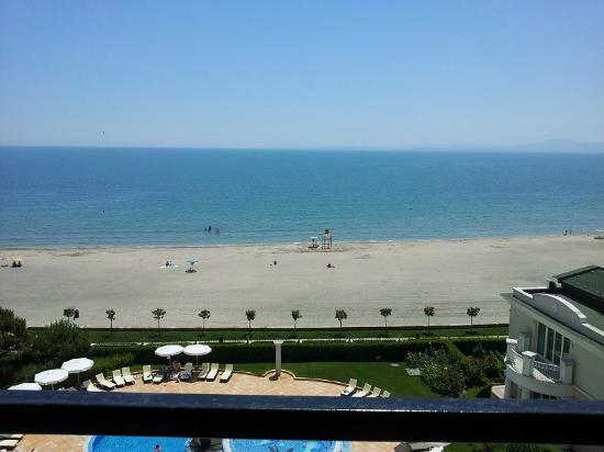 Pomorie, Bulgaria: View from balcony