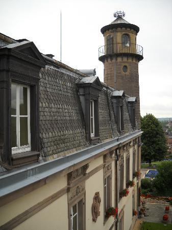 Chateau d'Isenbourg: vue de la chambre