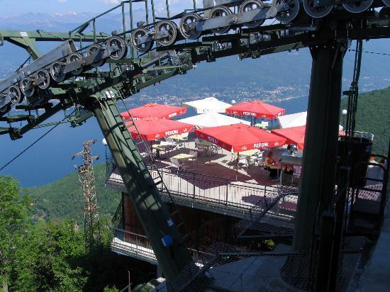 Funivie del Lago Maggiore: The hotel terrace