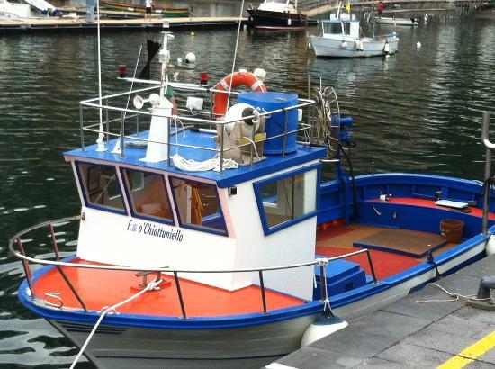 Ristorante L'Approdo: Just around the bay this super little fishing boat, so quaint