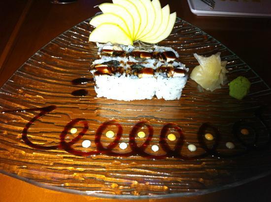 Taiyo Wei: Eel & Cream Chese Sushi Roll
