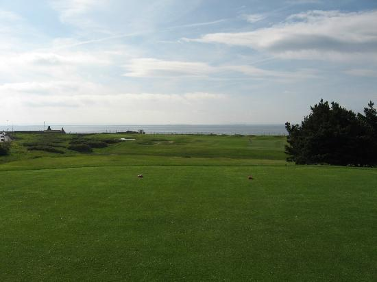 Galway Golf Club: View of Galway Bay from the first tee.