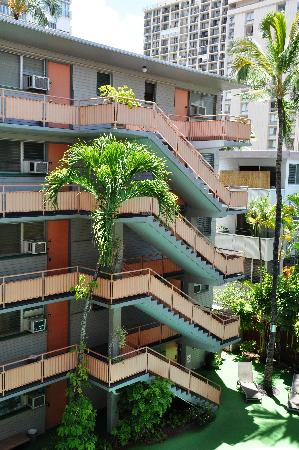 Hawaiian King Condominiums: Inside view from the balcony