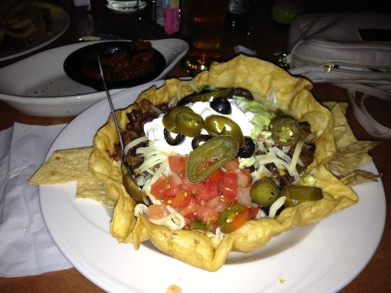 Triple 7 Brewpub: taco salad