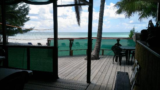 Bahama John's Seafood-N-Rib Shack: View walking out to back porch