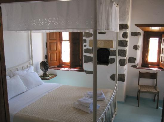 Theologos Houses: Schlafzimmer