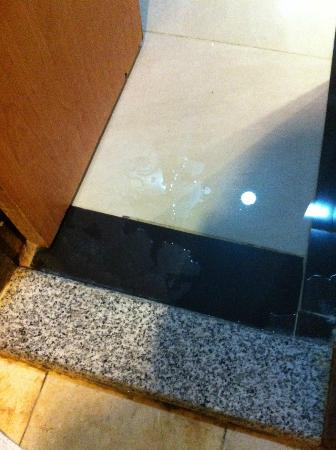 Nawazi Ajyad Hotel: Puddle of water on bathroom floor