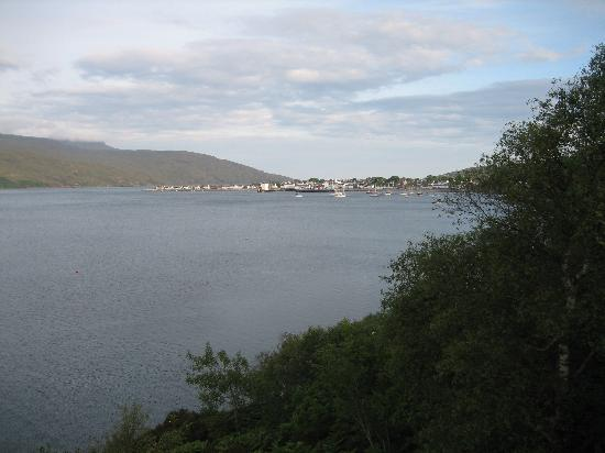 Tanglewood House: View of Ullapool from our bedroom window