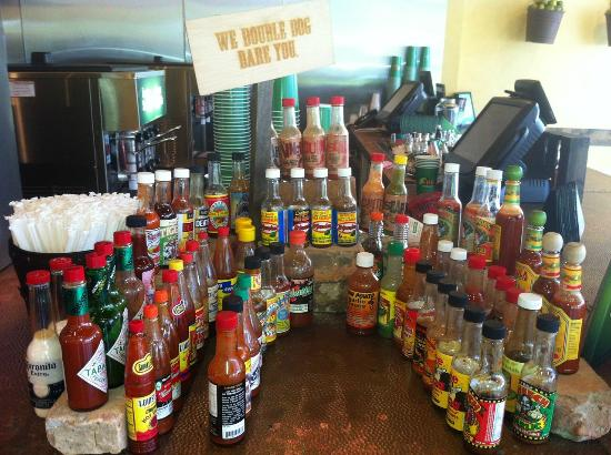 Lime Fresh Mexican Grill: Lime Hot Sauce Bottle Assortment