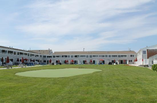 Edgewater Beach Resort: Putting Green and Back of Hotel