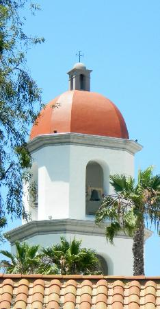 San Juan Capistrano, CA: Church bell tower next to mission