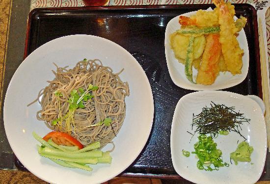 Zen-Toro At Davis: Zaru soba and tempura