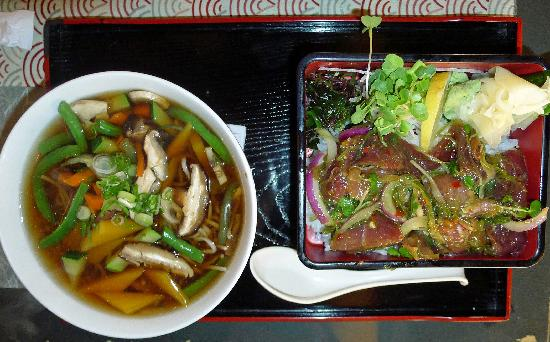 Zen-Toro At Davis: Noodles and poke salad