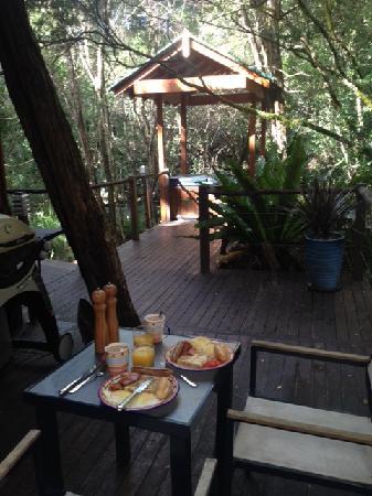 The Mouses House Rainforest Retreat: Breakfast outside - Sleeping Beauty