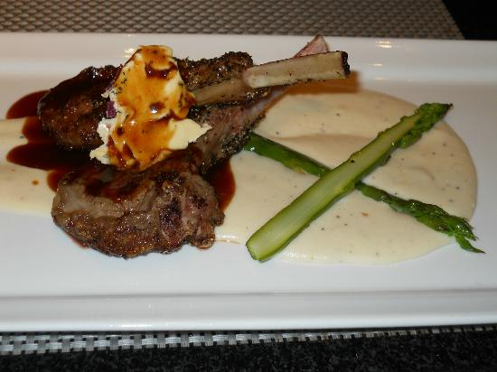 Broad Street Grille: Grilled Lamb Chops-Potatoe Puree Cabernet/Thyme Butter