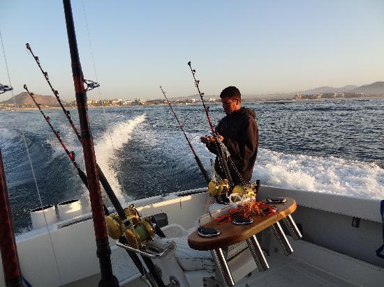 Jesus Setting The Bait Picture Of Redrum Sportfishing