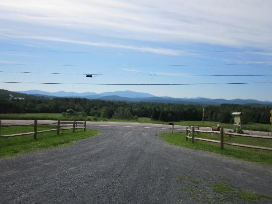 The Inn At Grace Farm B&B: Looking down the driveway - mountain view across the street