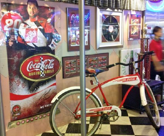 Dawson & Stevens Classic Diner: Coca Cola Racing Shrine at Dawson & Stevens
