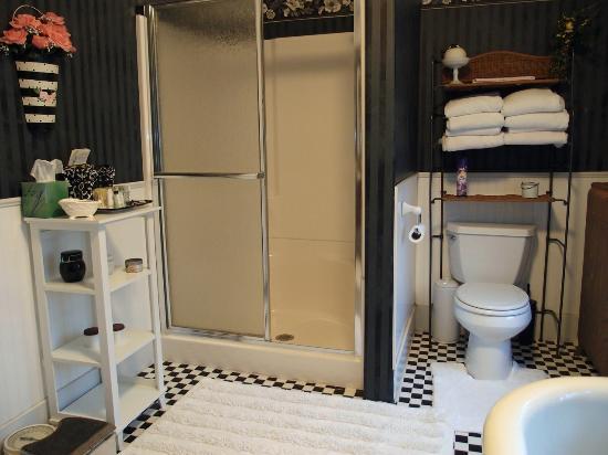 3rd Street Nest Bed & Breakfast: Modern shower